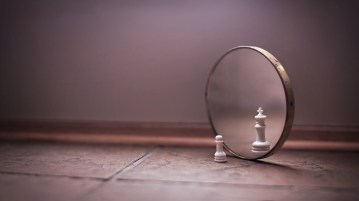 chess in the mirror