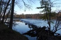 The stone dam across the Catawba River