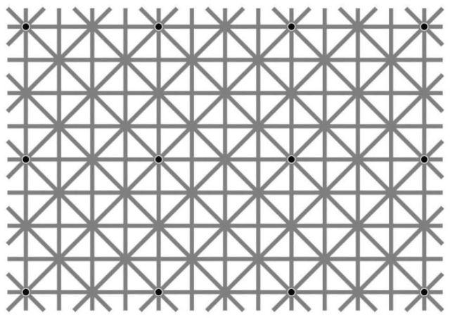 Оптическая иллюзия Нинье, или Пропадающие точки