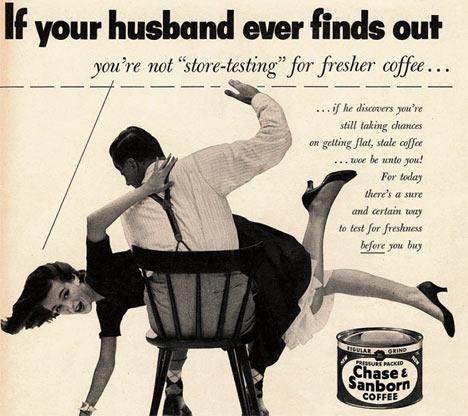 За такую рекламу из недавнего прошлого сегодня можно и схлопотать