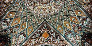 Потолки иранских мечетей - это что-то невероятное!
