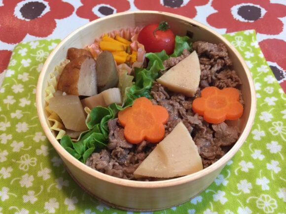 曲げわっぱ弁当 牛肉とタケノコのみそ煮弁当