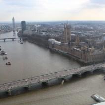 Vista de Londres de cima da London Eye