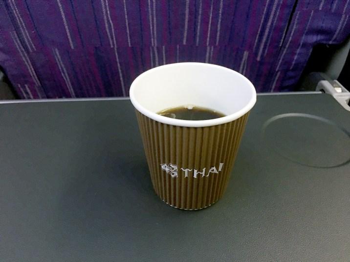 Café: Classe econômica Thai Airways 777-200ER