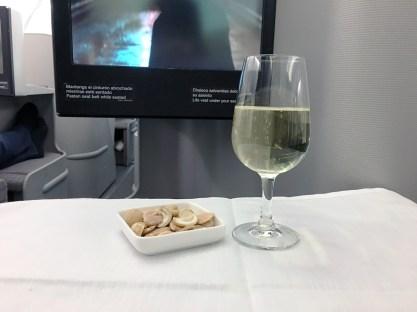 Refeição: Classe executiva do A330-300 da Iberia de Guarulhos a Madri