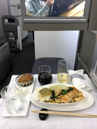 Classe executiva 787-800 British Airways Club World de Londres para Seul