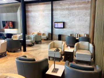 Sala VIP da Latam Airlines no aeroporto de Guarulhos