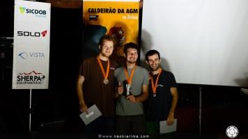 1o- Bruno Milani, 2o- Tobias Steiger, 3o- Willian