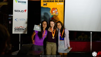 1o - Cassi Uez, 2o - Flora Zugaid, 3o - Luana Minello