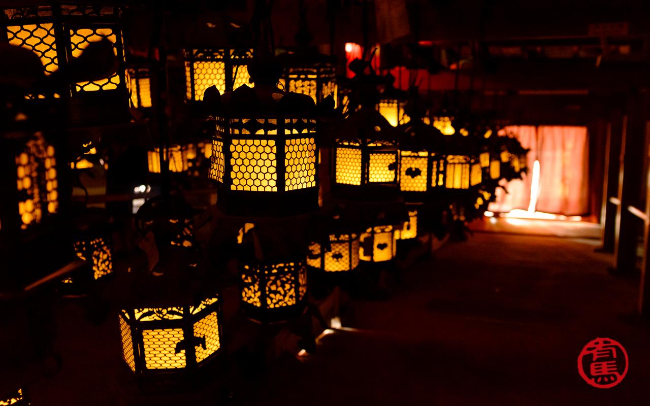 As lanternas de bronze de Kasuga-taisha.