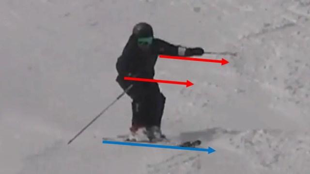 ②スキーと正体する