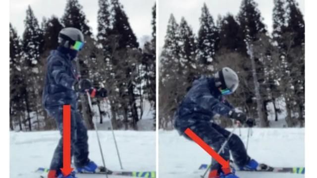スキー 骨盤を立てる