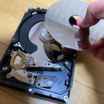 壊れたハードディスクを分解してみた