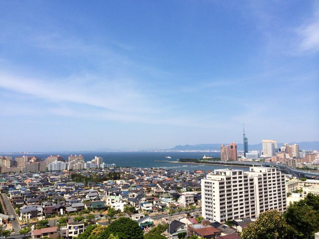 Fukuoka city form Mt. Atago