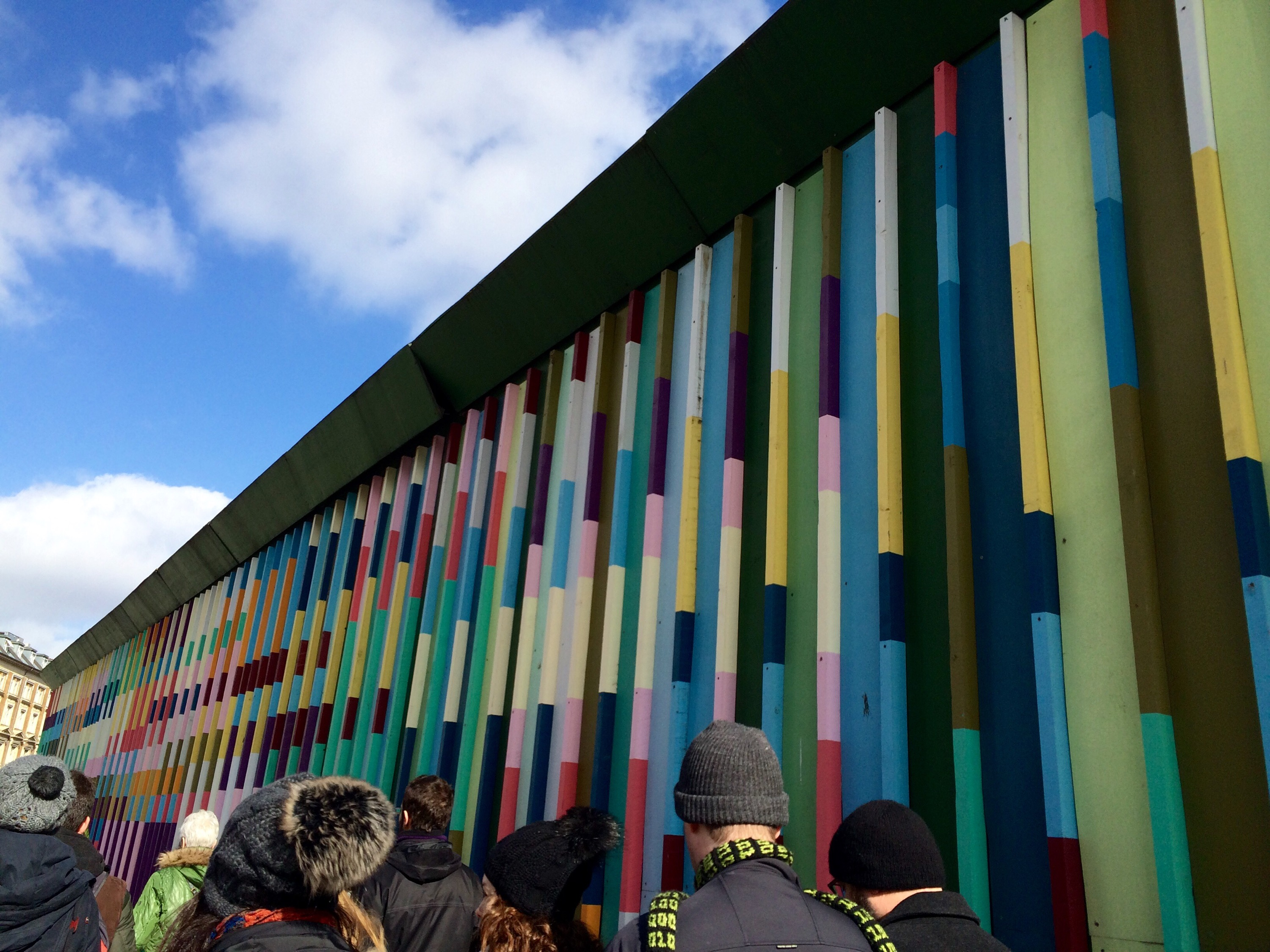 Construction wall in Indre By