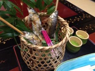 Salt-grilled sweetfish
