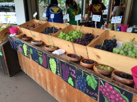Wide variety of grapes