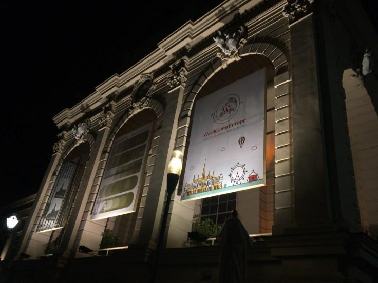 WCEU banner at night