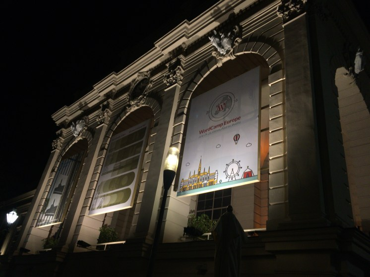 WCEU banner at night