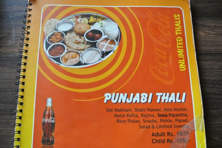 I ordered the Punjabi Thali.