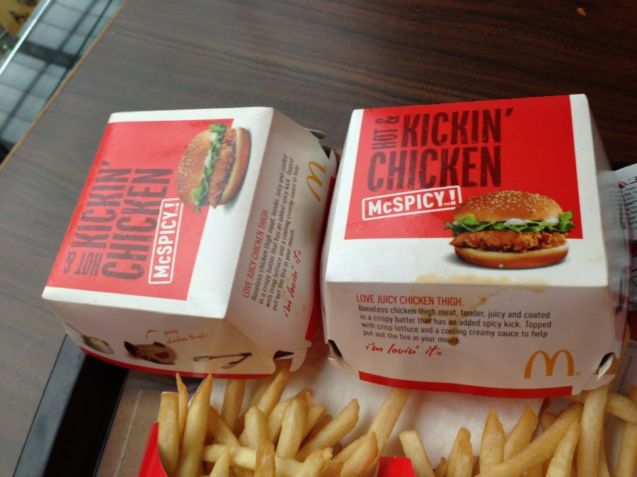 Spicy McChickens.