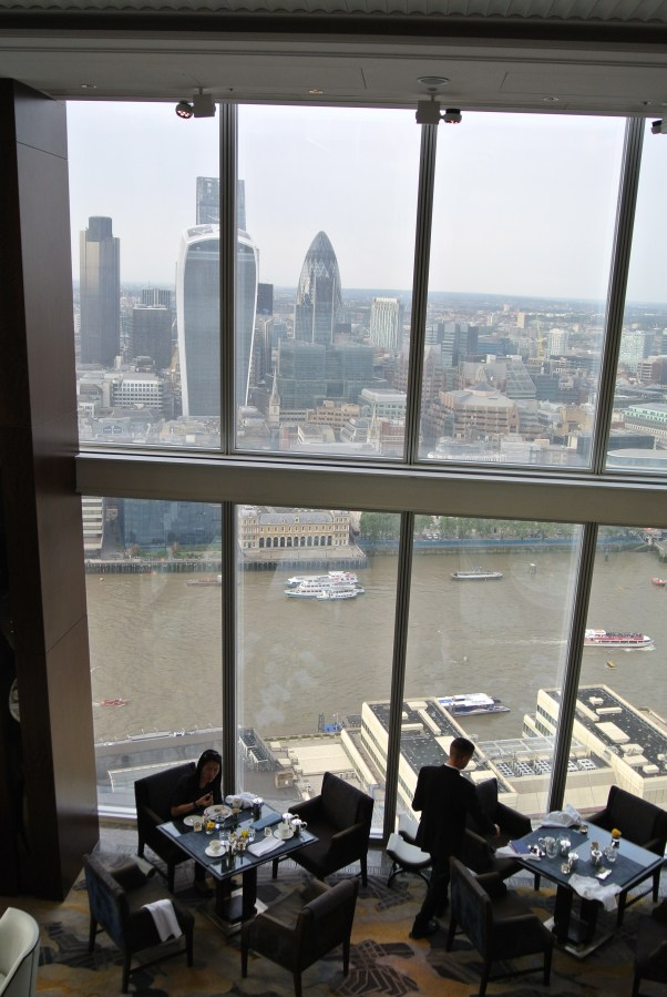 Inside the beautiful Shangri-La at the Shard in London.