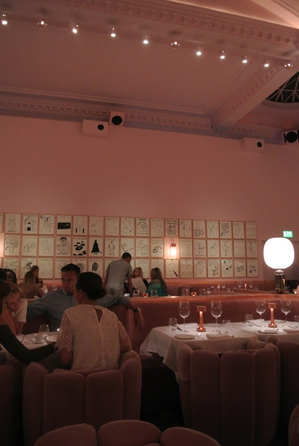 Inside the beautifully designed gallery room within Sketch.