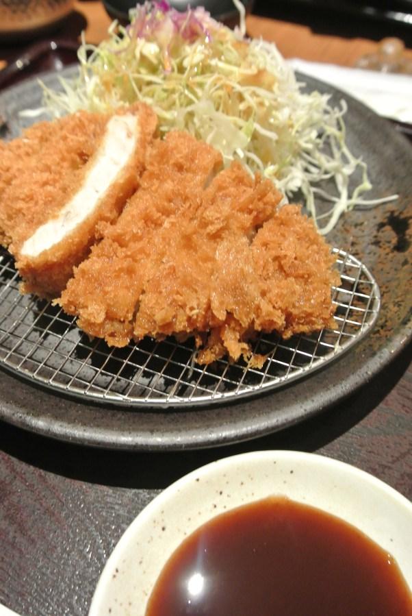 Fried pork tenderloin.