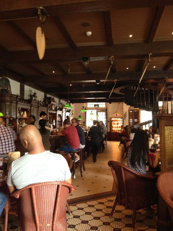 The original Long Bar where the first ever Singapore Sling was created and served.