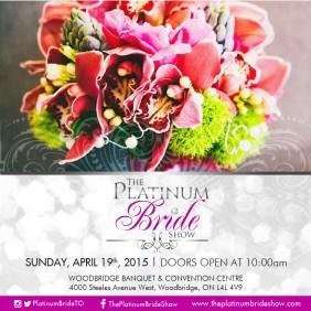 Flyer for The Platinum Bride Show
