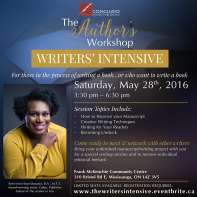 The Author's Worskhop 2016