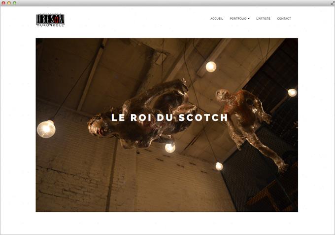 Website for Contemporary Artist Tresor Mukonkole