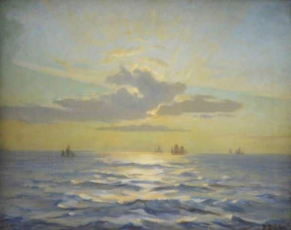 Bright, Beatrice, 1861-1940; Seascape