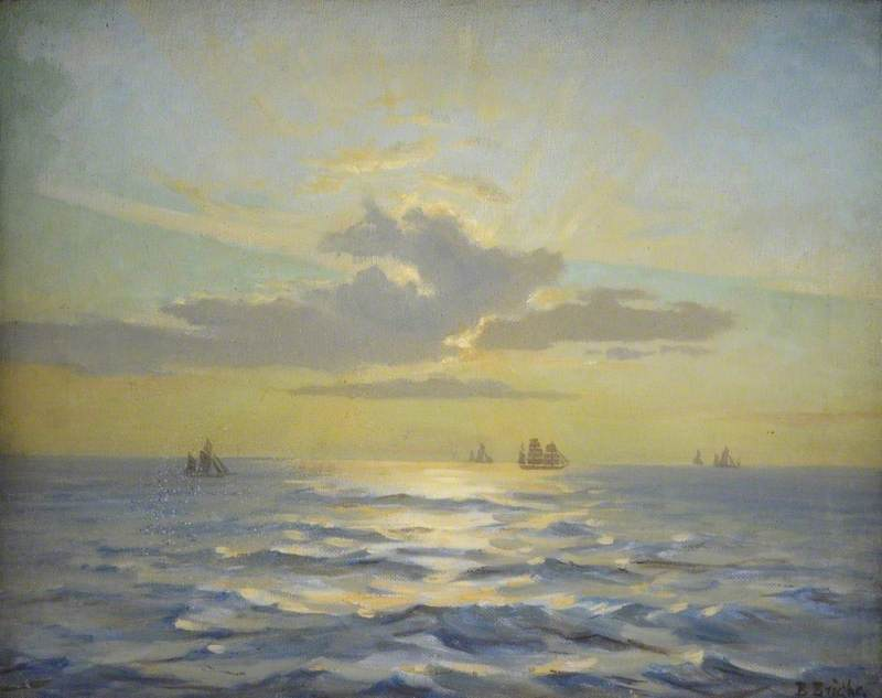 Bright, Beatrice, 1861-1940; Seascape