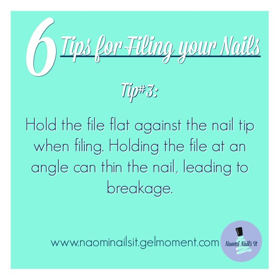 tips for filing nails, gelmoment, filing nails, manicure tips