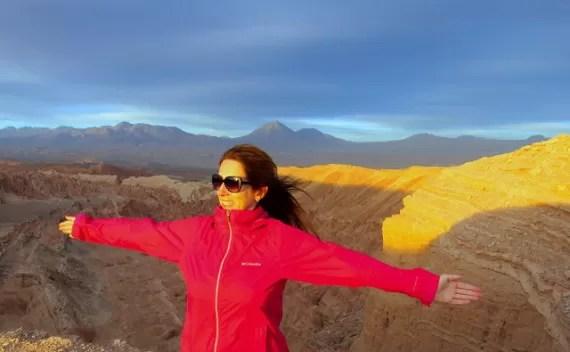 Valle de La Luna, de La Muerte e Pedra Coyote em uma tarde no Deserto do Atacama