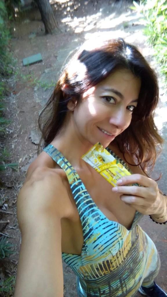 Sempre ter snacks a mão! Eu sempre tenho uma barrinha de proteína! Foto: arquivo pessoal