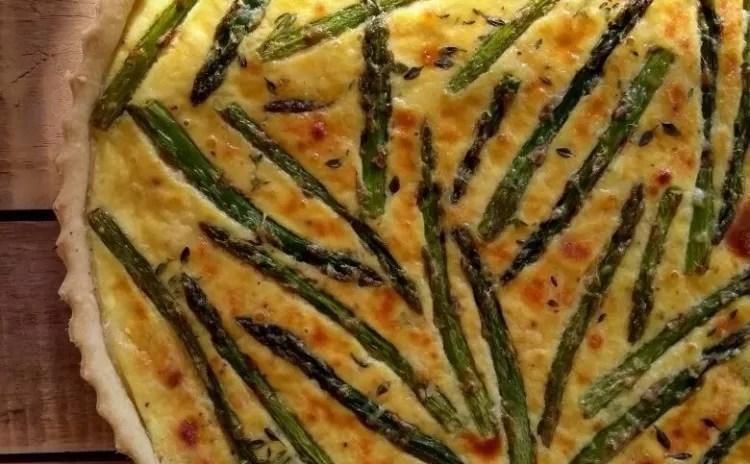Receita perfeita de quiche de aspargos com Presunto de Parma