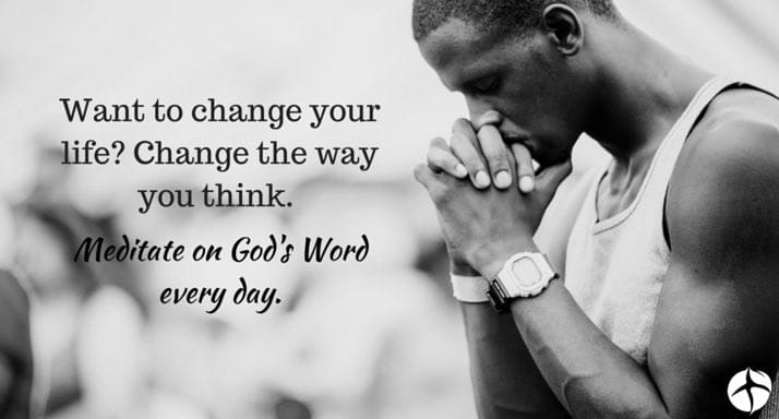 Image result for meditating on the word of god