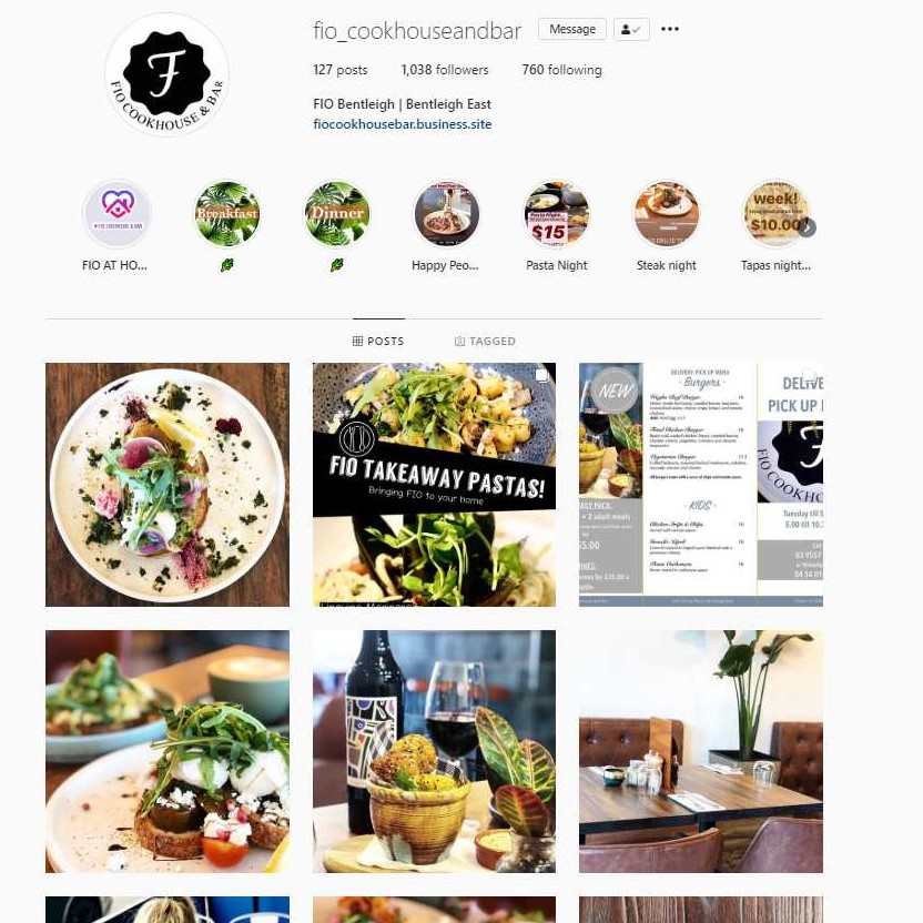 example of instagram content marketing