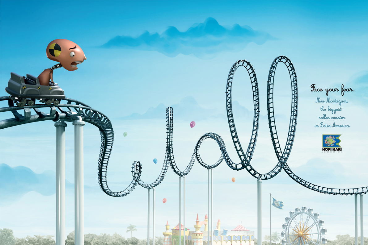 Hopi Hari Theme Park Print Advert By Y Amp R Roller Coaster Wall