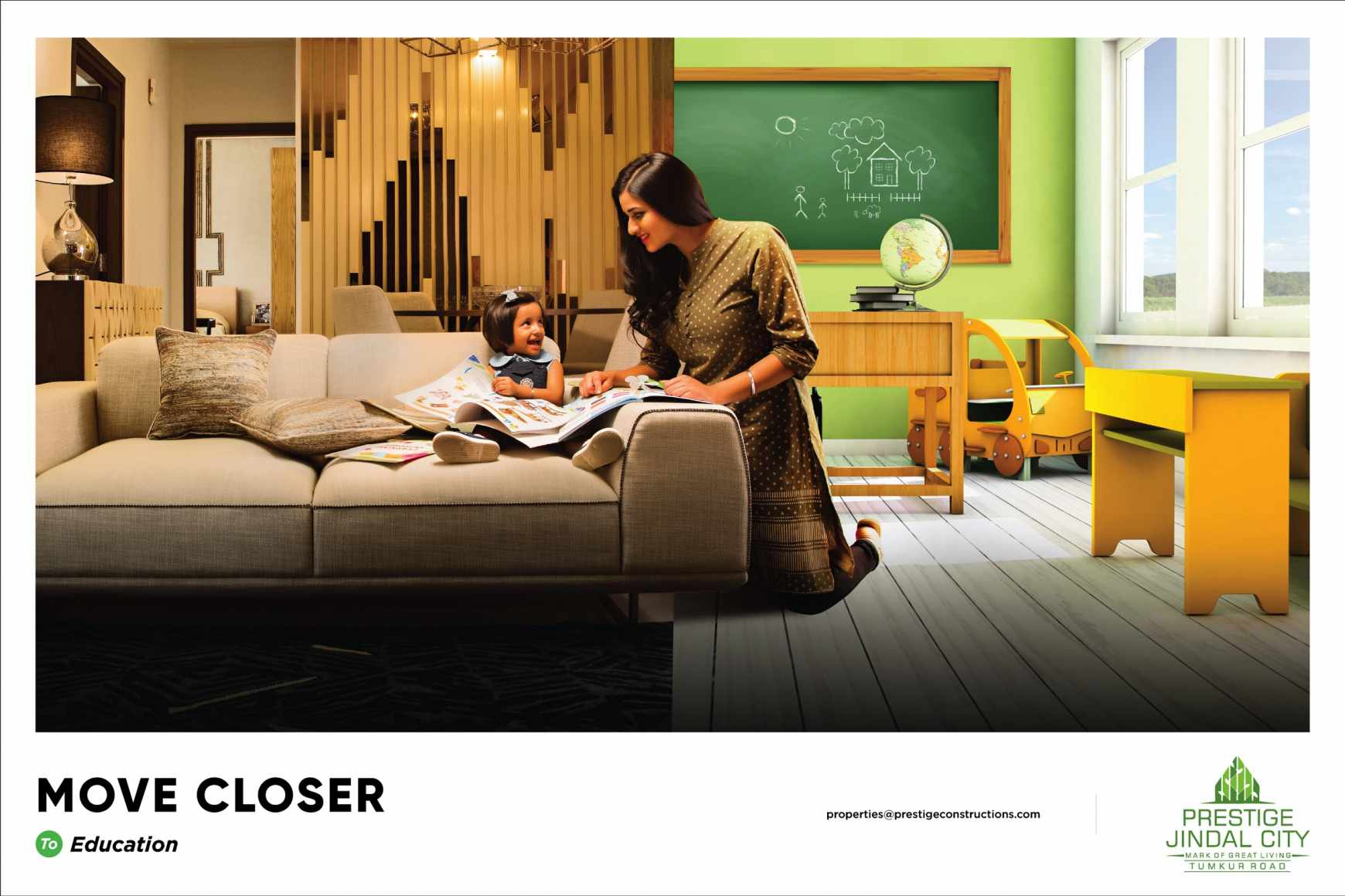 Prestige Jindal City Print Ad - Move Closer - Education