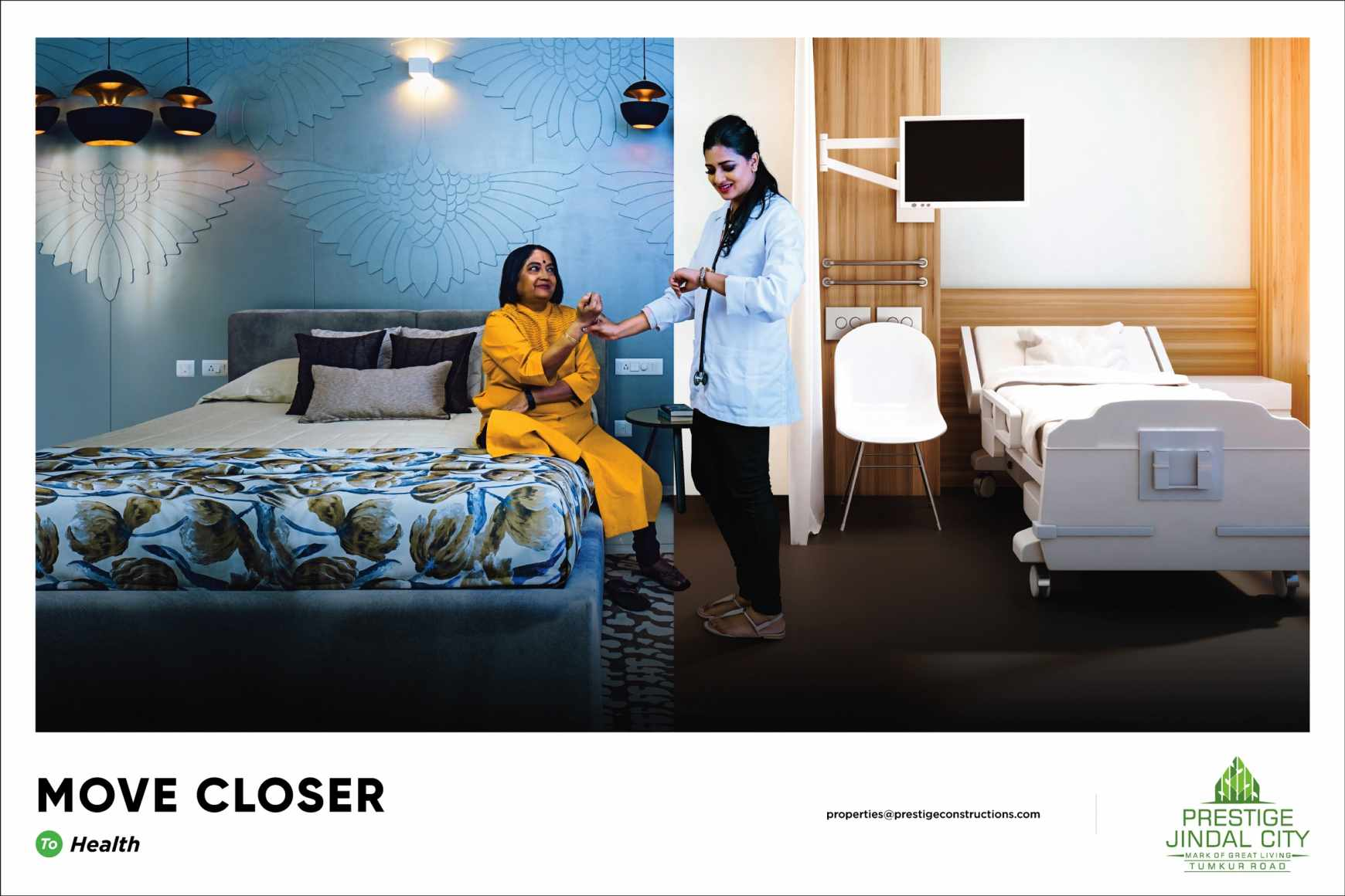 Prestige Jindal City Print Ad - Move Closer - Health