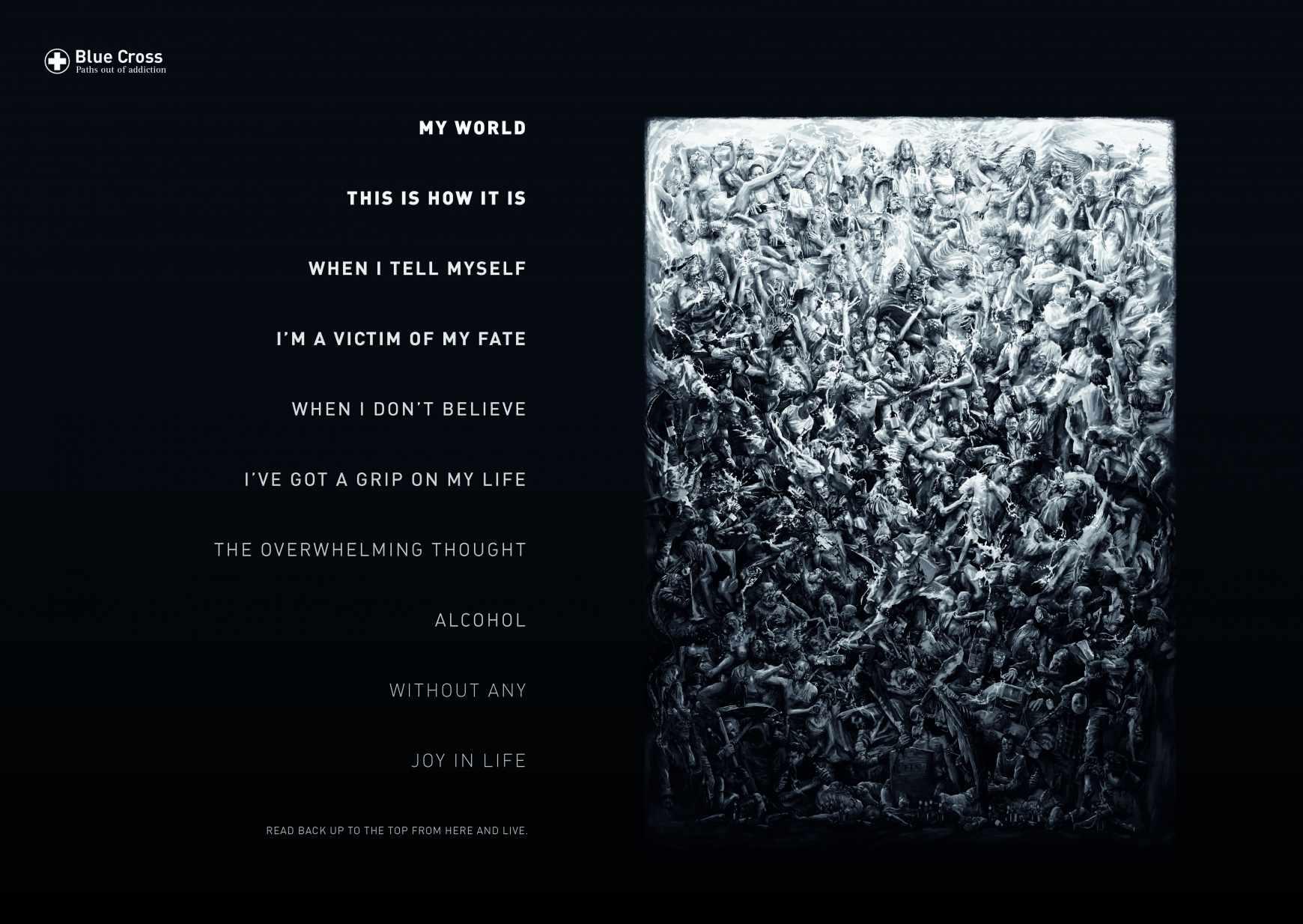 Blue Cross Print Ad - Reverse Poems, 1