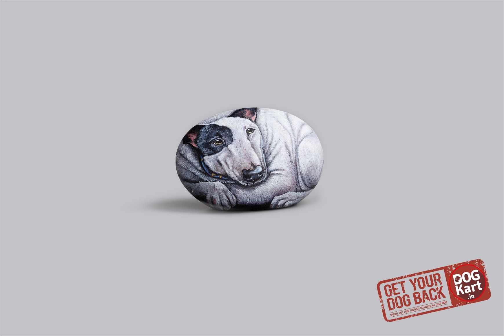 Dogkart Print Ad - Rock Heavy - Bull Terrier