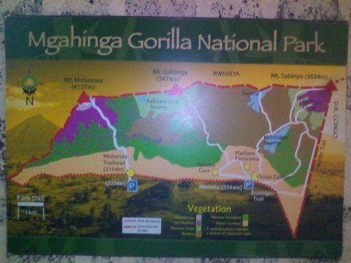 Mgahinga Map