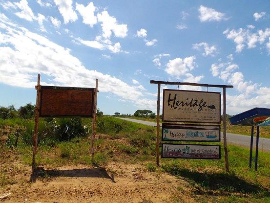 Heritage Safari Lodge Sign