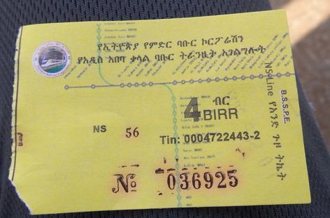 Ethiopia train ticket
