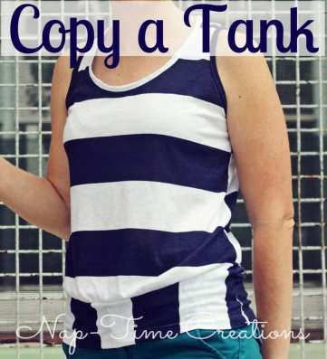 copy for favorite tank top. use an old tank to create a new and better one.