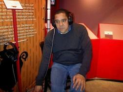 Henk Stadwijk controleer geluidfragment